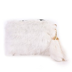 Unique Fur/PU Clutches/Satchel