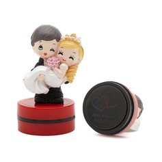 Personalized Bride And Groom Plastic/Resin Stamper