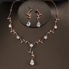 Copper/Zircon With Cubic Zirconia Ladies' Jewelry Sets