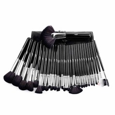 Artificial Fibre Fashion 32Pcs Black PU Bag Makeup Supply (046074554)
