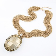Beautiful Alloy With Rhinestone Ladies' Fashion Necklace