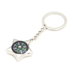 Personalized Compass Stainless Steel Keychains