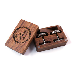 Groom Gifts - Personalized Elegant Vintage Wooden Cufflinks Tie Clip (257236032)