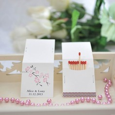 Personalized Flower Design Hard Card Paper Matchboxes