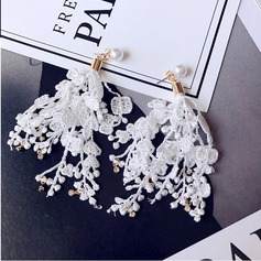 Elegant Alloy/Lace Ladies' Earrings