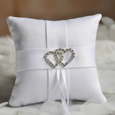 Elegant Ring Pillow in Cloth With Loving Hearts