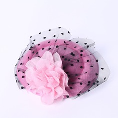 Damer' Elegant Siden blomma/Tyll Fascinators/Tea Party Hattar