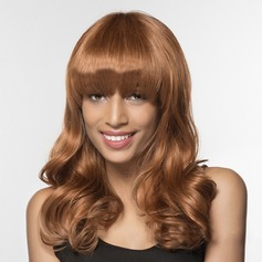 4A Non remy Wavy Human Hair Capless Wigs 160g