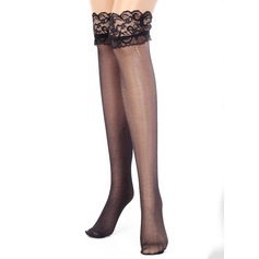 Women Costume Chinlon Breathability Hosiery With Lace Shapewear