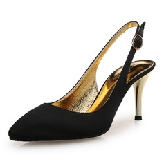 Women's Silk Stiletto Heel Pumps With Sparkling Glitter shoes