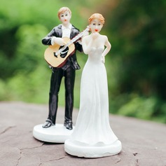 Music Couple Figurine Resin Cake Topper