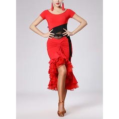 Women's Dancewear Nylon Latin Dance Outfits (115091509)