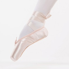 Women's Satin Ballet Pointe Shoes Dance Shoes