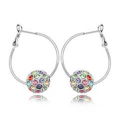 Shining Alloy Crystal Ladies' Fashion Earrings