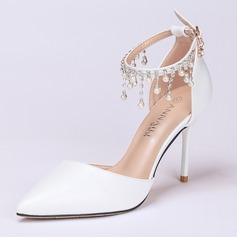 Women's Leatherette Stiletto Heel Closed Toe Pumps