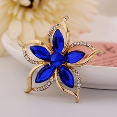 Gorgeous Alloy Rhinestones Ladies' Fashion Brooches (Sold in a single piece)