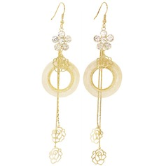 Exquisite Crystal/Iron Ladies' Earrings