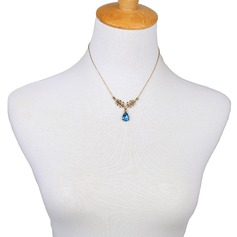 Gorgeous Alloy Coloured Glaze Women's Fashion Necklace (Sold in a single piece)