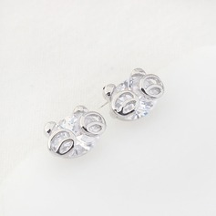 Beautiful Gold Plated Zircon Ladies' Fashion Earrings