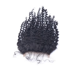 "4""*4"" 5A Kinky Curly Human Hair Closure (Sold in a single piece)"