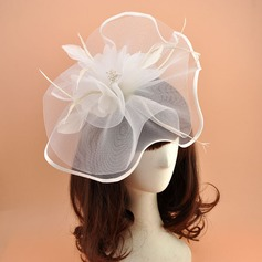 Ladies' Vintage Organza With Feather Fascinators/Kentucky Derby Hats