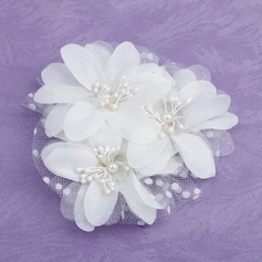 Kids Gorgeous Imitation Pearls/Satin/Tulle Flowers & Feathers