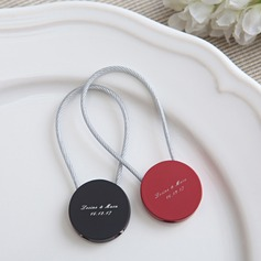 Personalized Round Alloy Keychains
