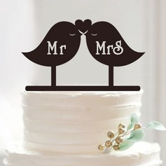 Love Birds Acrylic Cake Topper