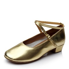 Kids' Leatherette Modern Ballroom With Ankle Strap Dance Shoes