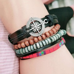 Exquisite Alloy Leatherette Ladies' Fashion Bracelets