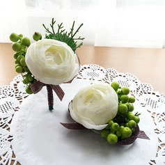 Simple Artificial Silk Flower Sets (set of 2) - Wrist Corsage/Boutonniere
