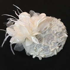 Elegante Tule Fascinators/Chapéus do tea party