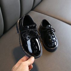 Unisex Leatherette Flats With Lace-up