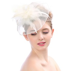 Ladies' Beautiful/Unique/Simple Tulle With Feather Fascinators