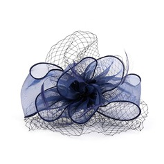 Ladies' Beautiful Organza/Feather Fascinators