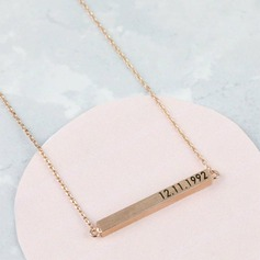 Personalized Ladies' Chic 925 Sterling Silver Name/Engraved/Bar Necklaces For Bridesmaid/For Friends/For Couple