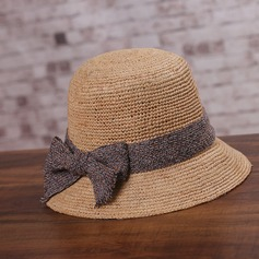 Ladies' Simple Raffia Straw With Bowknot/Flax Straw Hat