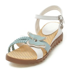 Women's Leatherette Wedge Heel Sandals Peep Toe With Bowknot Buckle shoes