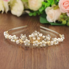 Ladies Glamourous Imitation Pearls/Beads Tiaras (Sold in single piece)