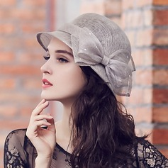Ladies' Gorgeous/Glamourous/Elegant Cambric With Rhinestone Bowler/Cloche Hat