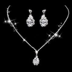 Shining Alloy/Copper With Rhinestone/Cubic Zirconia Ladies' Jewelry Sets