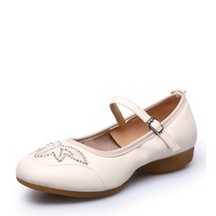 Women's Real Leather Sneakers Character Shoes With Applique Dance Shoes