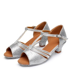 Kids' Leatherette Flats Latin Swing Dance Shoes