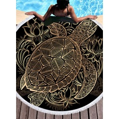 Retro/Vintage/Animal Oversized/round Beach towel (204165353)