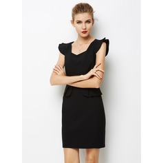 Polyester With Stitching Above Knee Dress (199103608)