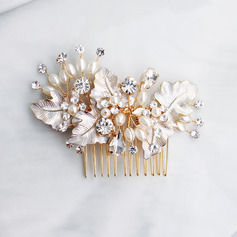 Ladies Pretty Alloy/Beads Combs & Barrettes With Rhinestone/Venetian Pearl
