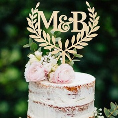 Personalized Rustic Acrylic/Wood Cake Topper