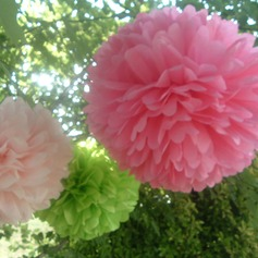 "9 4/9""(24cm) Elegant/Ball Shaped Paper Flower  (More Colors) (131038152)"