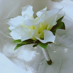 Simple And Elegant Free-Form Satin/Artificial Silk Bridal Bouquets - (123116146)