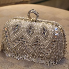 Classical Imitation Pearl/Alloy Clutches/Satchel